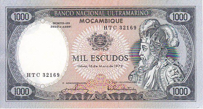 Mozambique 1000 Escudo Alfonso V - Boats