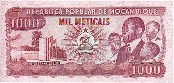 Mozambique 1000 Meticais Président S.Machel - Travailleurs