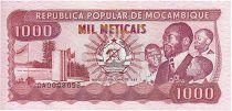 Mozambique 1000 Meticais President S.Machel - Workers