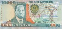 Mozambique 10000 Meticais J. Chissano - Plowing
