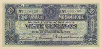 Mozambique 20 Centavos, Armoiries - Ornements - 1933