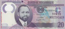 Mozambique 20 Meticais - S. M. Machel - Rhinocéros - 2017 Polymer - P.149b - Neuf