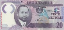 Mozambique 20 Meticais 2011 - S. M. Machel - Rhinoceros Polymer