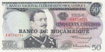 Mozambique 50 Escudos Joao de Azevedo Coutinho - Série A - 1976