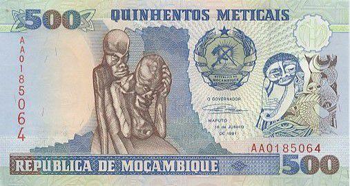 Mozambique 500 Meticais 500 Meticais