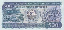 Mozambique 500 Meticais Assemblée - Etudiants, chimistes - 1983