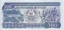Mozambique 500 Meticais Assemblée - Etudiants, chimistes