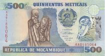 Mozambique 500 Meticais Statue art africain - Danseurs