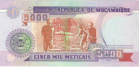 Mozambique 5000 Meticais S. Machel - Foundry