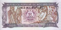 Mozambique 5000 Meticais Statues - Guerriers et musiciens