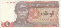 Myanmar 1 Kyat - General Aung San - Dragon - 1990