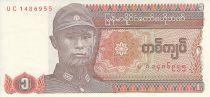 Myanmar 1 Kyat - Général Aung San - Dragon - 1990