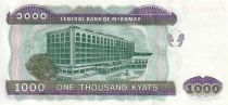 Myanmar 1000 Kyat Chinze - Central Bank Bldg