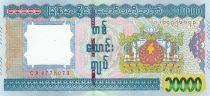 Myanmar 10000 Kyats Eléphants - Temple - 2015