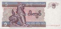 Myanmar 5 Kyat Shinzé - Jeu