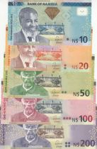 Namibia SET 10 to 200 Dollars - UNC