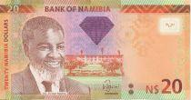 Namibie 20 Namibia Dollars Dollars, H.E. Dr Sam Nujoma - 2011