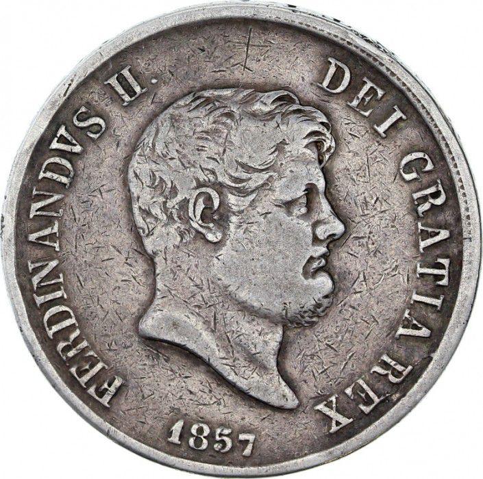Naples 120 Grana Ferdinand II - Armoiries - 1857
