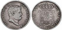 Naples 120 Grana Ferdinand II - Arms - 1857