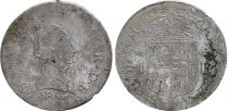Navarre Teston - Jeanne d\'Albret - Kingdom of Navarre - 1566 Pau - Silver- F to VF