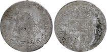 Navarre Teston - Jeanne d\'Albret - Royaume de Navarre - 1566 Pau - Argent - TB+