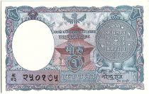 Népal 1 Mohru, Pièce - Temple - 1951