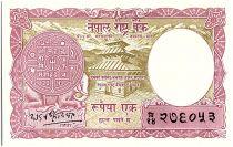 Népal 1 Mohru, Pièce, Temple - 1956 -P.8