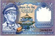 Nepal 1 Rupee, King Birendra Bir Bikram, Musk Deers - 1974 - P.22