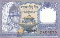 Népal 1 Rupee ND1991 - Roi Birendra Bir Bikram, Antilopes musquées