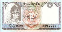 Népal 10 Rupees,   Roi B.B. Bikram - Antilopes - 1985 - P.31 a