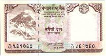 Nepal 10 Rupees, Everest Mountain - Deer - 2008 - P.61 a