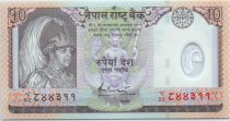 Nepal 10 Rupees King Bir Bikram - Animals - 2005
