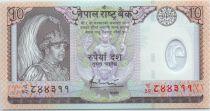 Népal 10 Rupees Roi B.B. Bikram - Antilopes - 2005