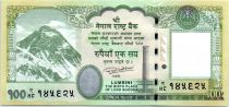 Nepal 100 Rupees, Everest Mountain - Rhinocerous  - 2015