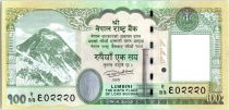 Népal 100 Rupees 2015 - Mont Everest, Rhinocéros