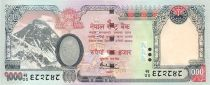 Népal 1000 Rupee Mont Everest - Eléphant - 2008