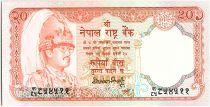 Nepal 20 Rupees,   King B.B. Bikram - Antilopes - 1985 - P.32.a