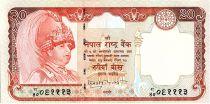 Népal 20 Rupees , Roi Gyanendra Bir Bikram - Cerf - 2002 - P.47 b