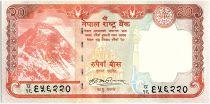 Nepal 20 Rupees, Everest Mountain - Deer - 2008 - P.62 a