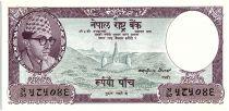 Nepal 5 Mohru,  King Mahandra Vira Vikrama - Mountains - 1960 - P.9