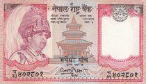 Népal 5 Rupees - Roi Gyanendra Bir Bikram - Temple - Yaks - 2005