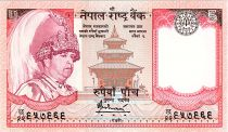 Nepal 5 Rupees, Kg Birendra Bir Bikram, temple - Yaks - 2006 - P.46