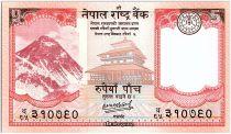 Népal 5 Rupees, Temple - Yaks - 2020 - Neuf