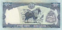 Népal 50 Rupee Roi B.B. Bikram - Chèvre - 2002