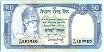 Nepal 50 Rupees,   King B.B. Bikram - Antilopes - 1985 - P.33.b