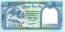 Nepal 50 Rupees 2015 - Everest Mount, Snow Leopards