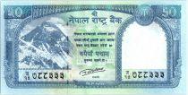 Népal 50 Rupees 2015 - Mont Everest, Léopard des neiges