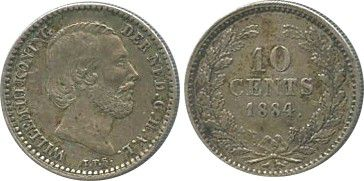 Netherlands 10 Cents Willem III