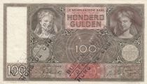 Netherlands 100 Gulden Woman face - 1942