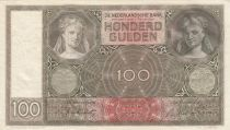 Netherlands 100 Gulden Woman face - 1942